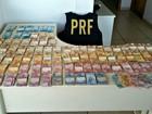 Em Água Clara, MS, PRF apreende R$ 63 mil em caminhonete roubada