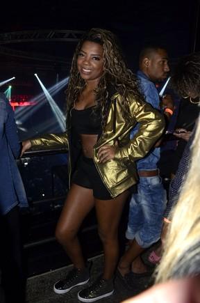 MC Ludmilla em show na Zona Oeste do Rio (Foto: Roberto Teixeira/ EGO)