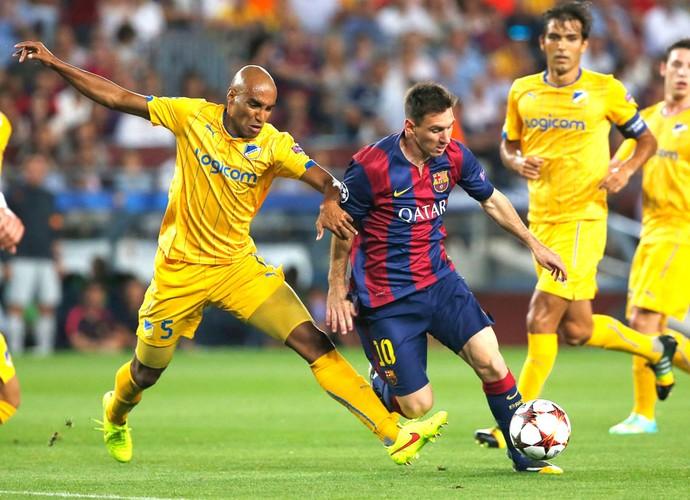 Messi Barcelona X Apoel (Foto: Agência AF)