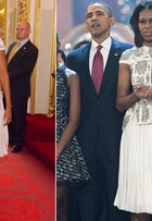 Não é só Kate Middleton - Michelle Obama repete look