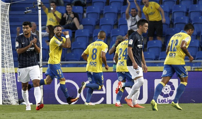 Momo comemora gol do Las Palmas (Foto: EFE/Ángel Medina G.)