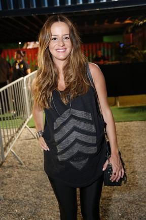 Erika Mader, grávida, em festa na Zona Sul do Rio (Foto: Felipe Assumpção/ Ag. News)