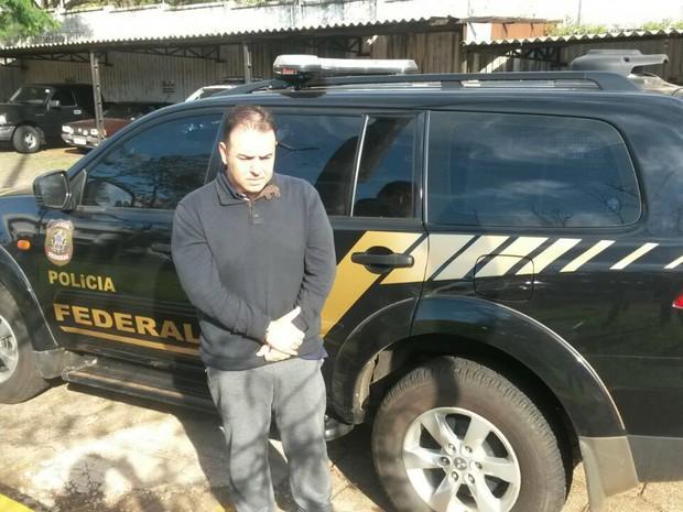 Michel Pierri Cintra foi preso em Ubiratã (PR) quando seguia para Foz do Iguaçu (PR) (Foto: Polícia Federal/Divulgação)
