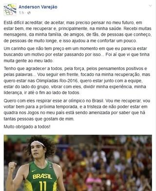 Anderson Varejão (Foto: Reprocução/Facebook)