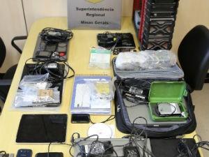 Materiais de pornografia infantil foram apreendidos em operação (Foto: Polícia Federal/Divulgação)