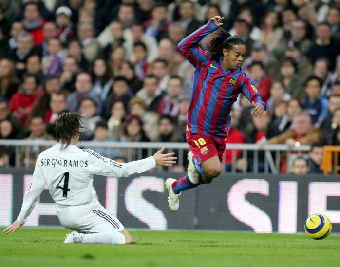BLOG - Ronaldinho Sergio Ramos Real Madrid Barcelona 2005