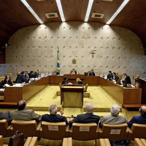 Plenário do STF: os ministros vão decidir que versão do escândalo é a verdadeira (Foto: O Globo)