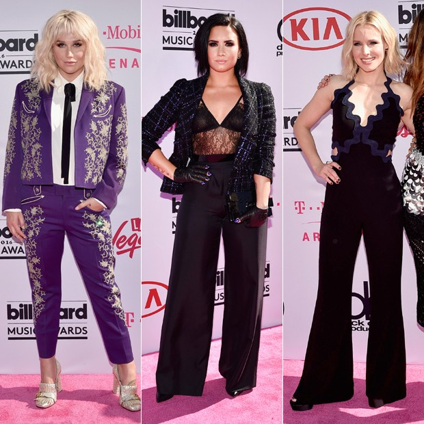 Kesha, Demi Lovato e Kristen Bell  (Foto: David Becker/ Getty Images)