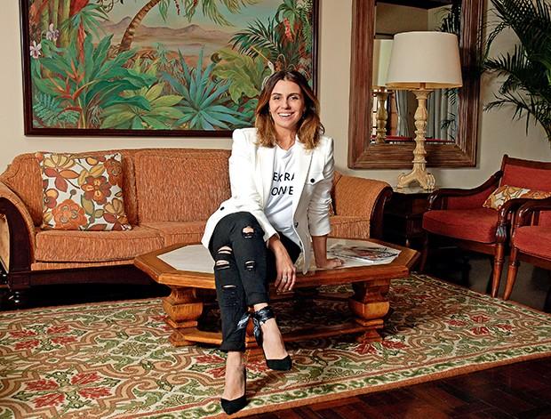 Giovanna em um dos  lounges do Belmond  (Foto:  )