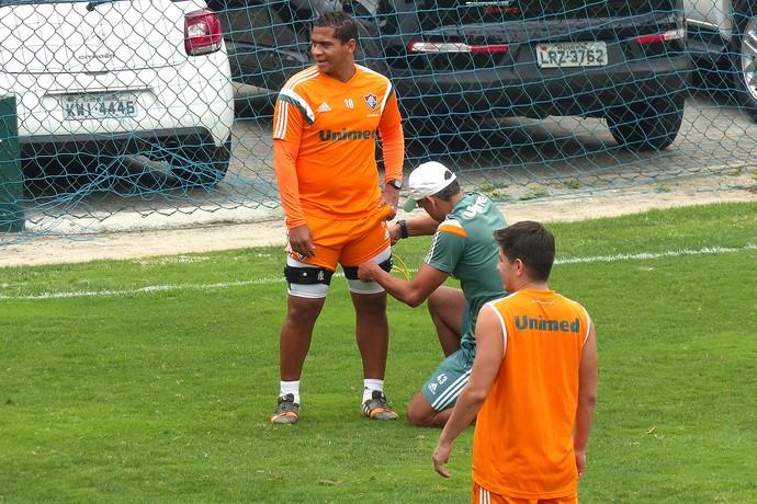 Walter Treino do Fluminense nas Laranjeiras (Foto: Fred Gomes / Globoesporte.com)