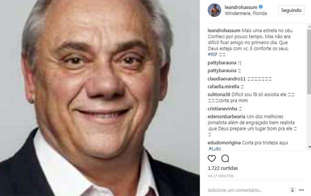 Leandro Hassum homenageia (Foto: Reprodução / Instagram)