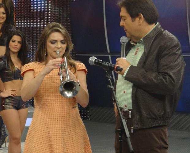 Titina Medeiros (Foto: Domingão do Faustão / TV Globo)