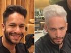 Rainer Cadete radicaliza e adota cabelo platinado: 'Adoro mudar'