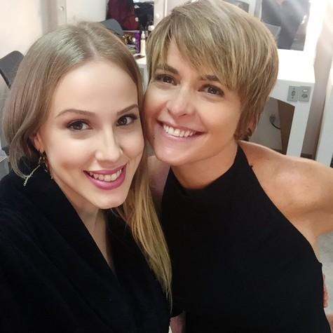 Marcella Rica e Cláudia Abreu (Foto: Arquivo pessoal)