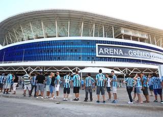 Arena do Grêmio tem fila para entrada (Foto: Lucas Uebel/Grêmio FBPA)