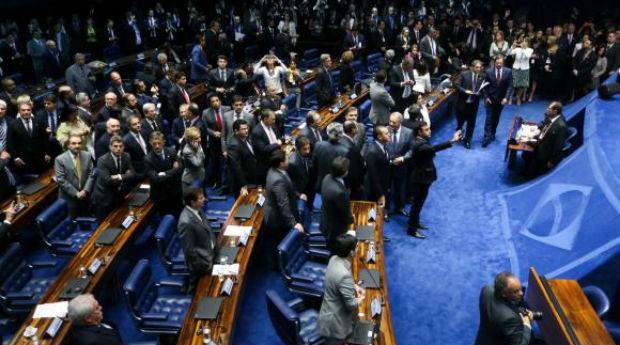 Brasília - Por 55 votos a favor e 22 contra, Senado abre processo de impeachment da Presidenta Dilma Rousseff (Foto: Marcelo Camargo/Agência Brasil)
