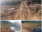 Parte do curso do Rio Paraíba do Sul é aterrada em Campos, no RJ