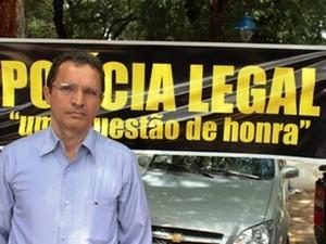 Presidente do Sindipol, Cristiano Ribeiro (Foto: Gil Oliveira)