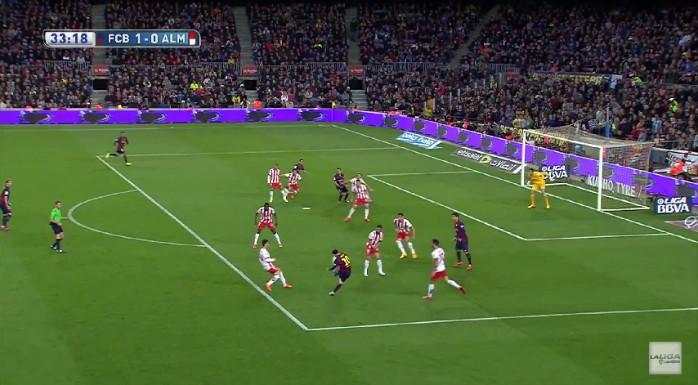 Messi golaço Barcelona Almería
