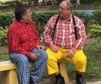 Nerso ( Pedro Bismark) e Gervasio ( Tarcisio Santos) nas gravações do longa | Divulgação