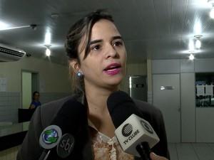Lina Brandão, advogada de defesa de Delano Parente, Redenção do Gurguéia (Foto: Reprodução/TV Clube)