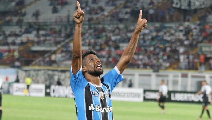Grêmio x Zamora Grêmio Léo Moura (Foto: Eduardo Moura/GloboEsporte.com)