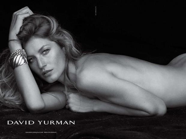 Gisele Bündchen na campanha de joias de luxo (Foto: Reprodução)