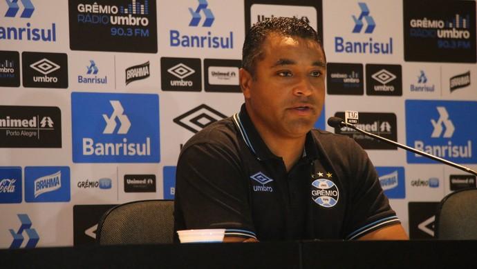 Roger Machado Grêmio (Foto: Eduardo Moura/GloboEsporte.com)