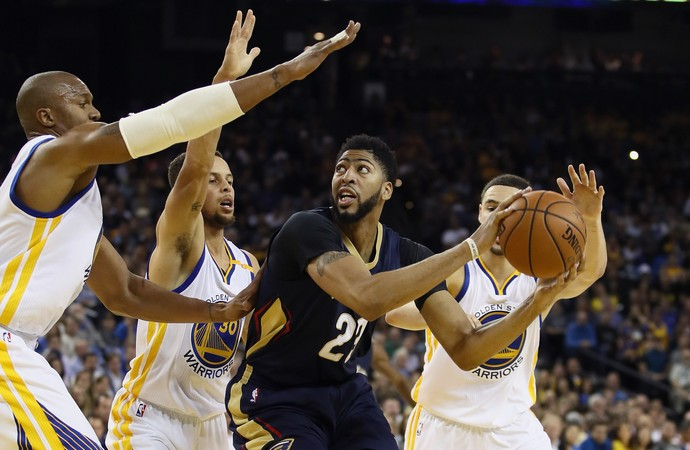 Kevin Durant e Anthony Davis Warriors x Pelicans NBA (Foto: Getty)