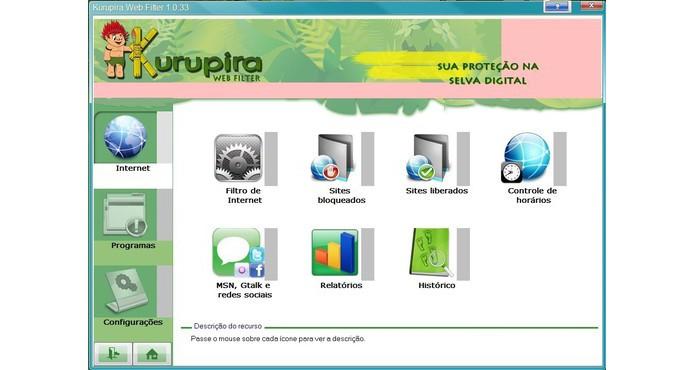 Kurupira Webfilter é fácil de configurar (Foto: Reprodução/Paulo Alves)