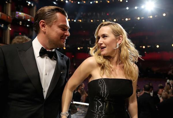 A atriz Kate Winslet com o ator Leonardo DiCaprio (Foto: Getty Images)