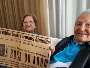 Walter e Paulina de Almeida têm quatro filhos, 11 netos e 11 bisnetos (Foto: Fernando Pacífico / G1)