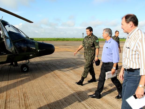 Governador de Mato Grosso do Sul sobrevoa região sul após temporais (Foto: Chico Ribeiro/Subcom-MS)