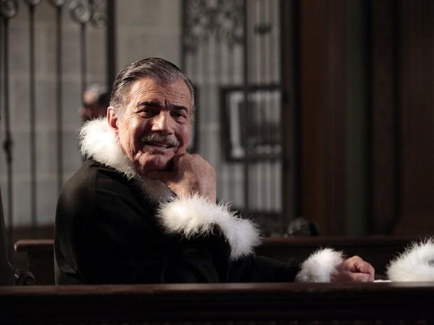 Tarcísio Meira viverá juiz do julgamento de Jesuíno (Foto: Gabriela / TV Globo)