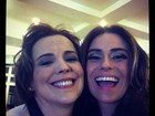Giovanna Antonelli e Ana Beatriz Nogueira gravam na madrugada