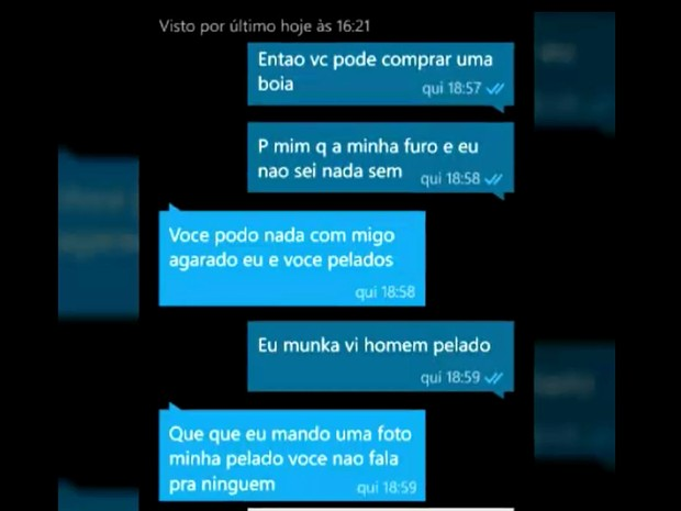Pedófilo troca mensagens com criança de 10 anos em Sumaré (Foto: Reprodução / EPTV)