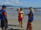 Mancha escura aparece no mar da Praia de Perequê, em Porto Belo