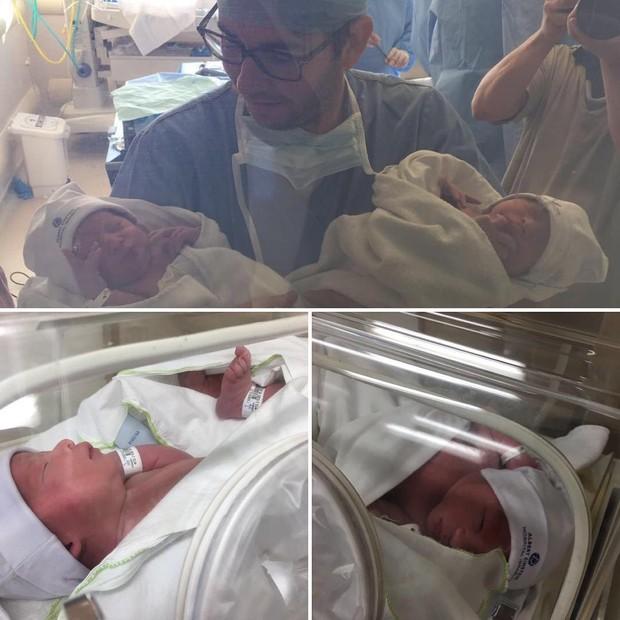 Galvão Bueno comemora o nascimento dos netos gêmeos (Foto: Instagram / Reprodução)