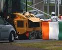 Impacto no capacete de Bianchi foi de 254 vezes força da gravidade, diz site