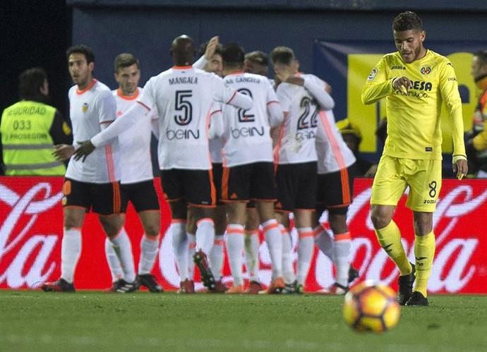 Valencia x Villarreal (Foto: EFE)