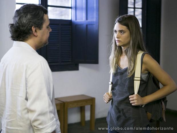 Lili defende William e conta a verdade para Líder Jorge (Foto: Felipe Monteiro/TV Globo)