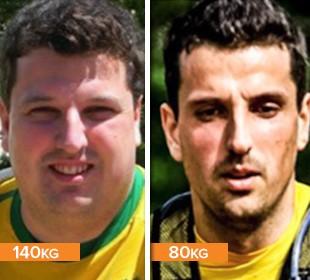 EuAtleta minha história Felipe Ristow antes e depois (Foto: Eu Atleta)