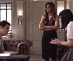 Mateus Solano, Mariana Santos e Valentina Herszage em cena de 'Pega pega' | TV Globo