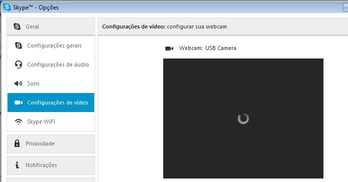 Verificando a webcam do computador (Foto: Reprodução/Edivaldo Brito)