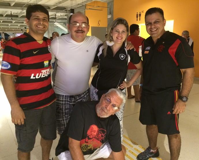 Família rival amazonas Fla x Bota (Foto: Isabella Pina)