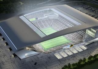 Projeto da arena divulgado pelo Corinthians (Foto: Divulgação)