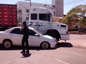 Acidente aconteceu no início da tarde desta segunda, 3, em Pimenta Bueno (Foto: Ugleiton Gomes/Arquivo pessoal)