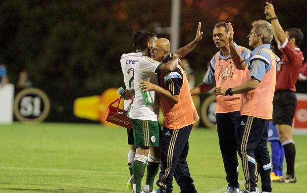 Dudu, gol Palmeiras x São Bento (Foto: Reginaldo Castro / Ag. Estado)