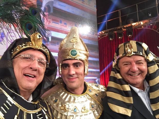 Galvão Bueno, Marcelo Adnet e Arnaldo Cezar Coelho (Foto: Reprodução / Instagram)