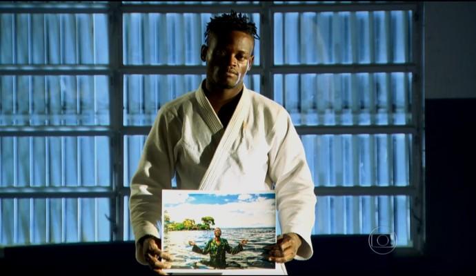 Popole Misenga, judoca do Congo asilado no Brasil (Foto: Reprodução TV Globo)